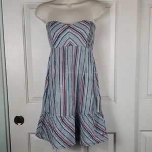 Roxy• S dress strapless stripes